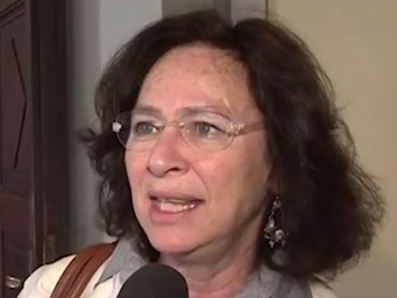 Manuela Arata e le transenne