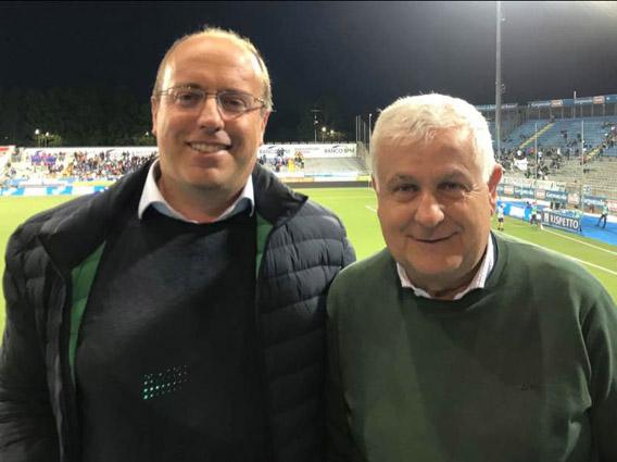 Bagnasco e Di Capua tifosi Entella