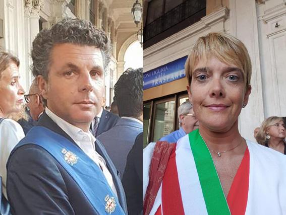 Bagnasco e Ricci in piazza De Ferrari