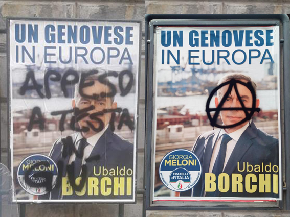 I cartelli imbrattati di Ubaldo Borchi