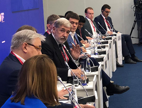 Bucci al forum economico di San Pietroburgo