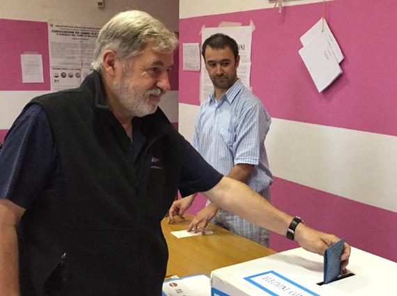 Marco Bucci ha votato
