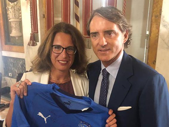 Gli Azzurri in campo con Genova nel cuore