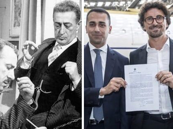 Di Maio e Toninelli come Toto' e Peppino