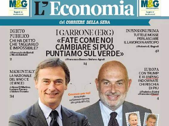 I Garrone sulla copertina di L'Economia