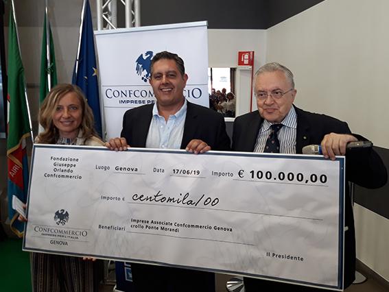Morandi, da Confcommercio Nazionale 100mila euro