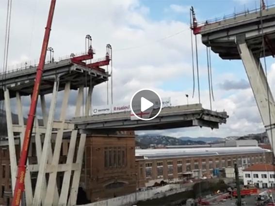 Il video dello smontaggio del Morandi
