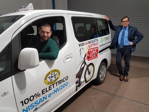 Ecomission sponsor dei taxi elettrici