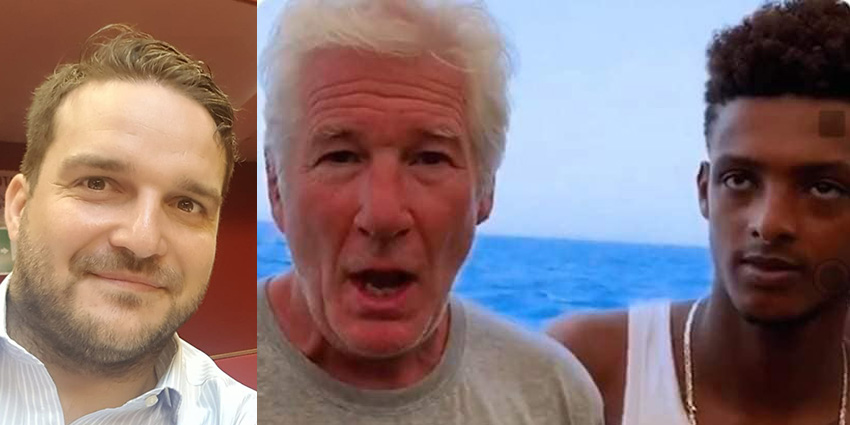 Richard Gere e Chef Rubio a Lampedusa per Open arms