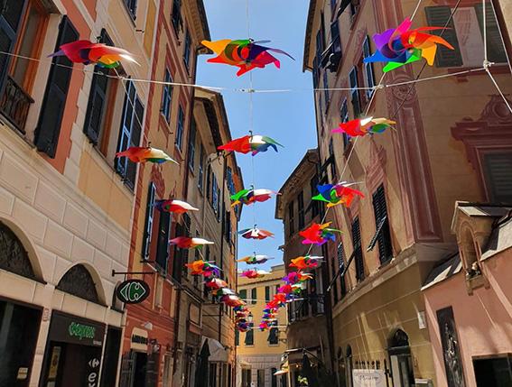 Le girandole colorano Rapallo