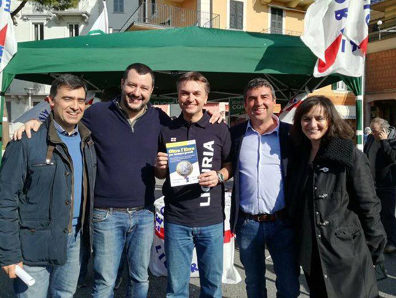 Matteo Salvini a Recco