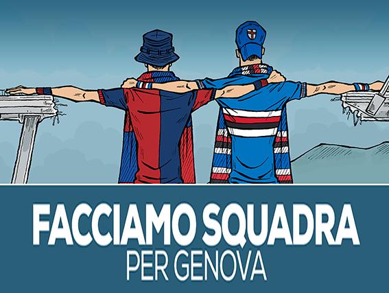 Genoa e Samp per le aziende sotto il ponte