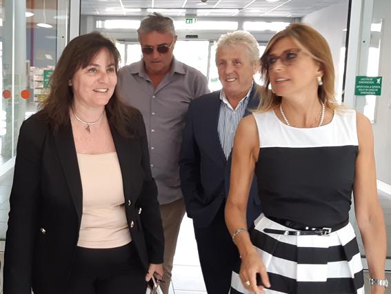 Viale visita l'ospedale di Rapallo