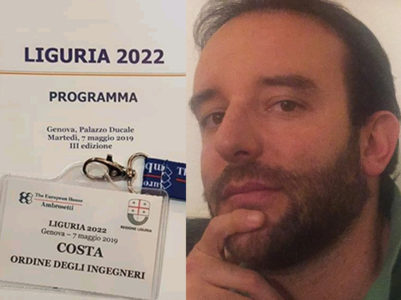 Il badge di Stefano Costa