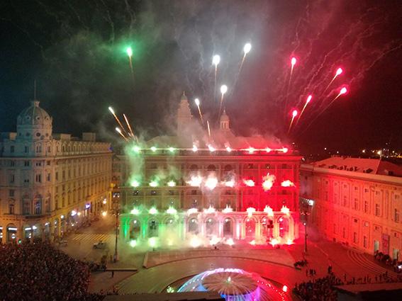 La festa della Repubblica in piazza De Ferrari